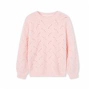 童装女童毛衣 儿童上衣 新款春装中大童针织衫 镂空毛衫  普通面料服装   GB18401