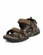 墨绿、黑色磨砂牛皮革纺织品平跟男凉鞋   皮革制品质检报告   皮鞋质量检测