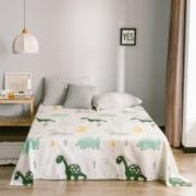 全棉印花床单单件简约斜纹纯棉学生宿舍床品单人双床被单  家居家纺打标检测
